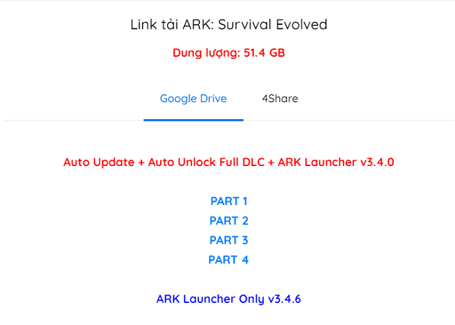 Link tải game ARK