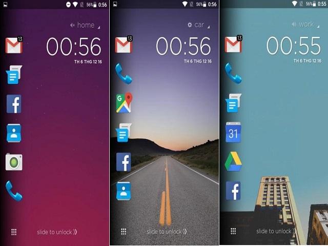 Màn hình khóa của thiết bị Android