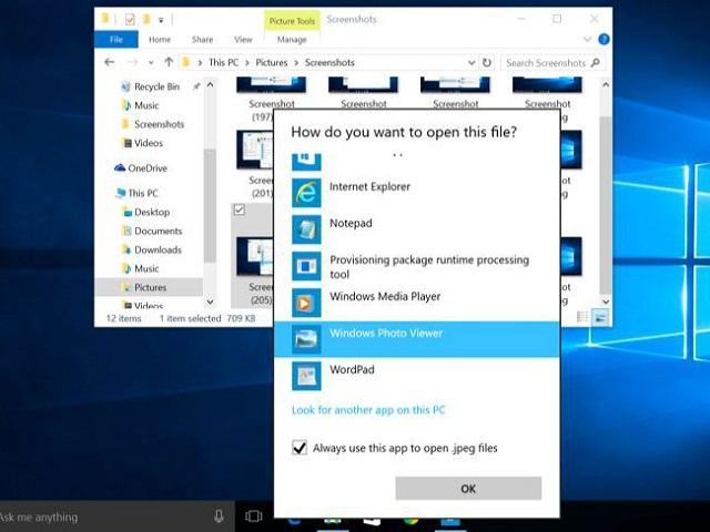 Biểu tượng Windows Photo Viewer trên máy tính