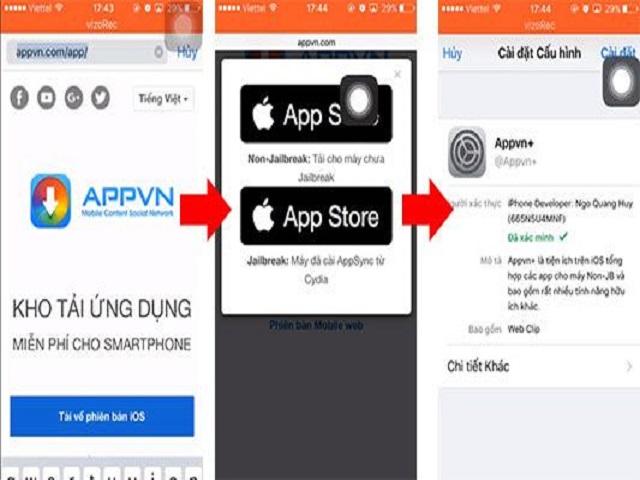 Tải Appvn cho iPhone không cần Jailbreak