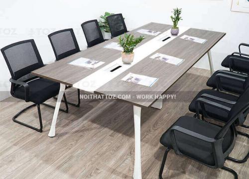 Bàn họp văn phòng kích thước nhỏ, kiểu dáng đơn giản, sang trọng